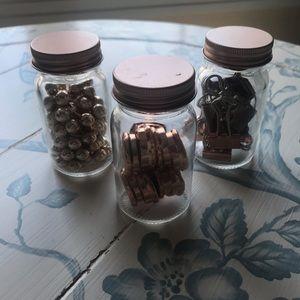 Other - Rose Gold Mason Jar Stationary